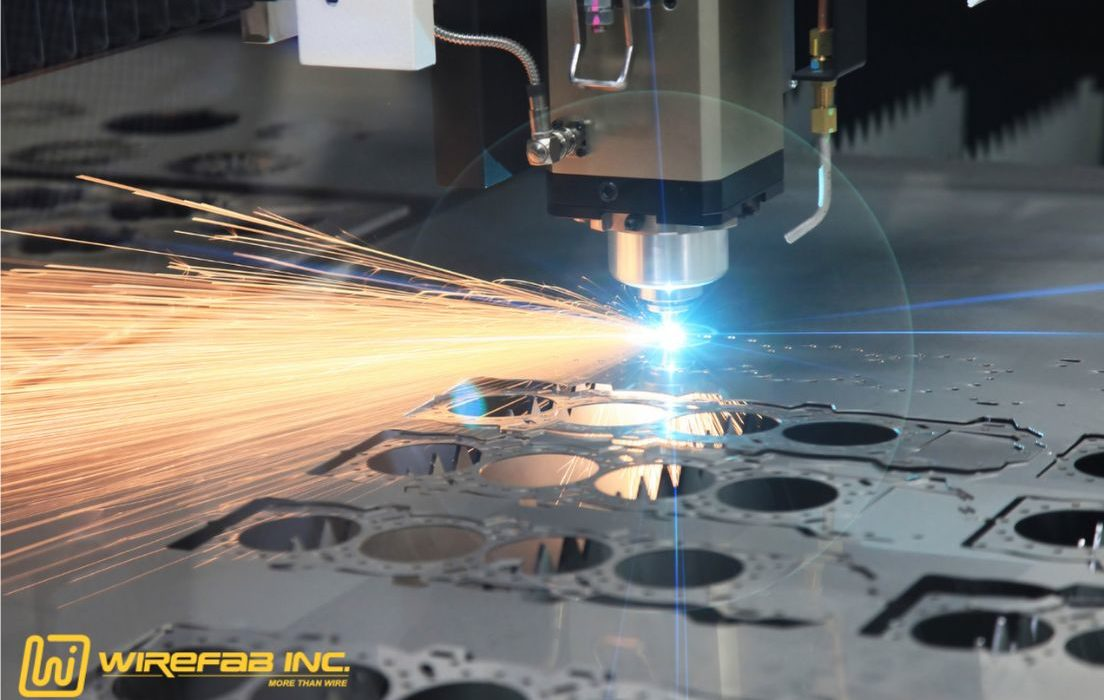 Laser Cutting and Sheet Metal Bolog Header for Wirefab Inc in Worcester, MA